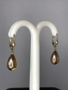 9ct Yellow Gold Teardrop Earrings