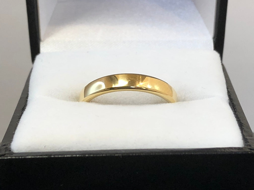 18ct Yellow Gold Plain Wedding Ring