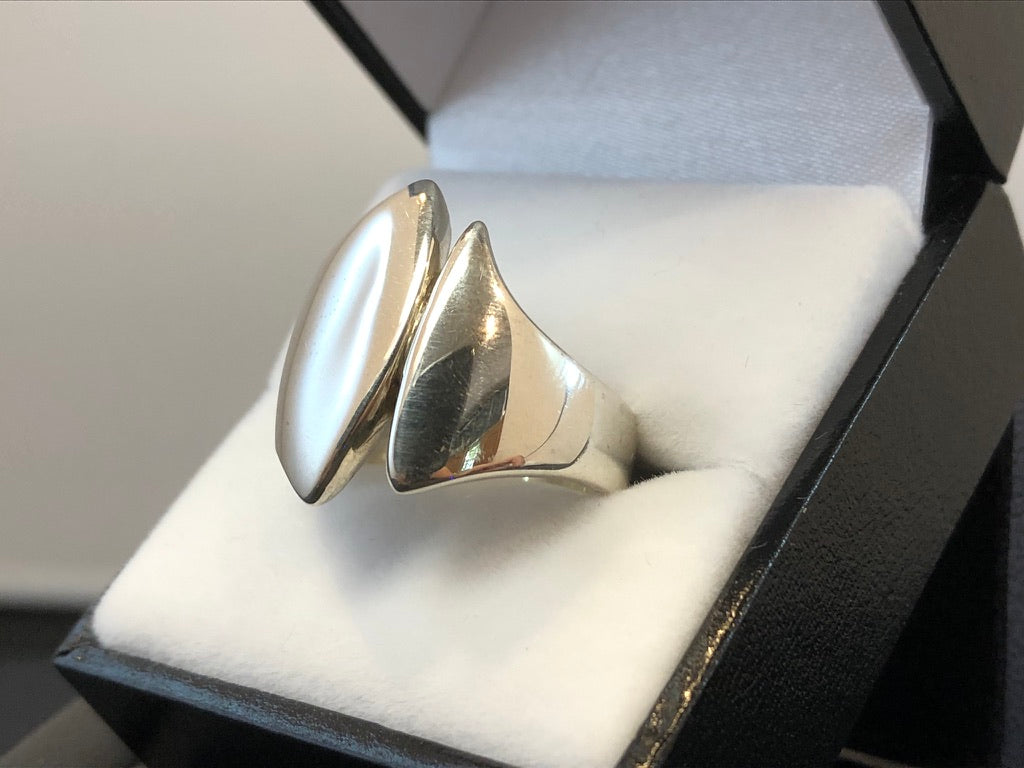 Sterling Silver Two Tails Ring
