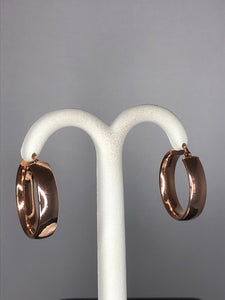 9ct Rose Gold Large Hoop Earrings