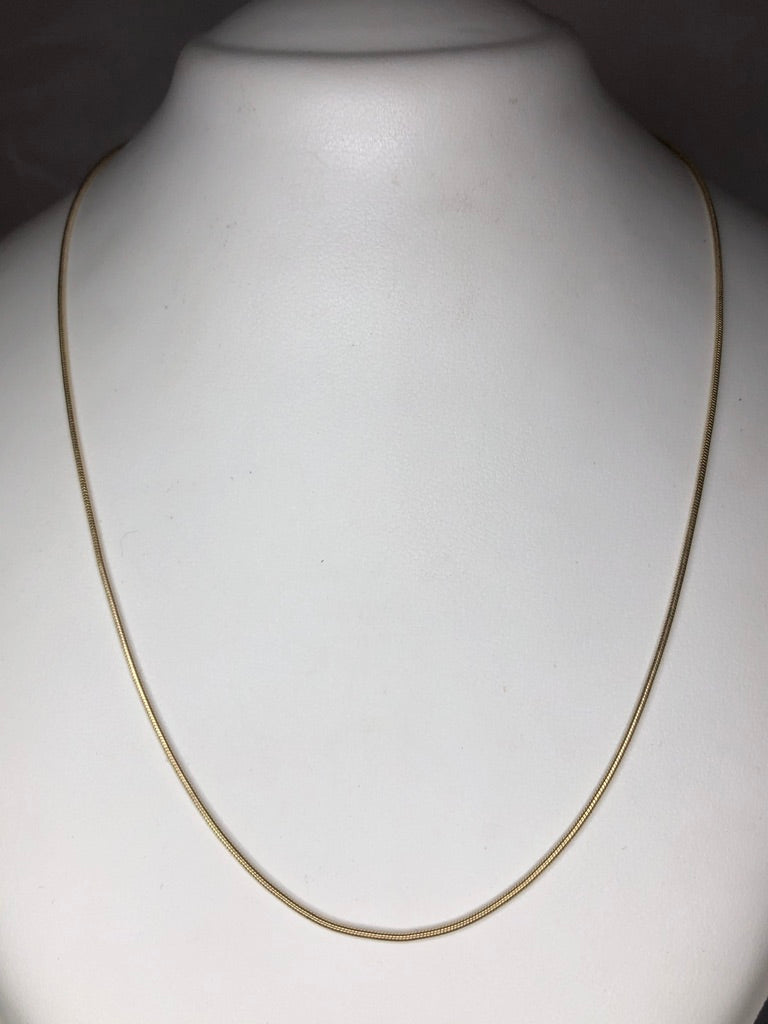 9ct Yellow Gold Omega Chain