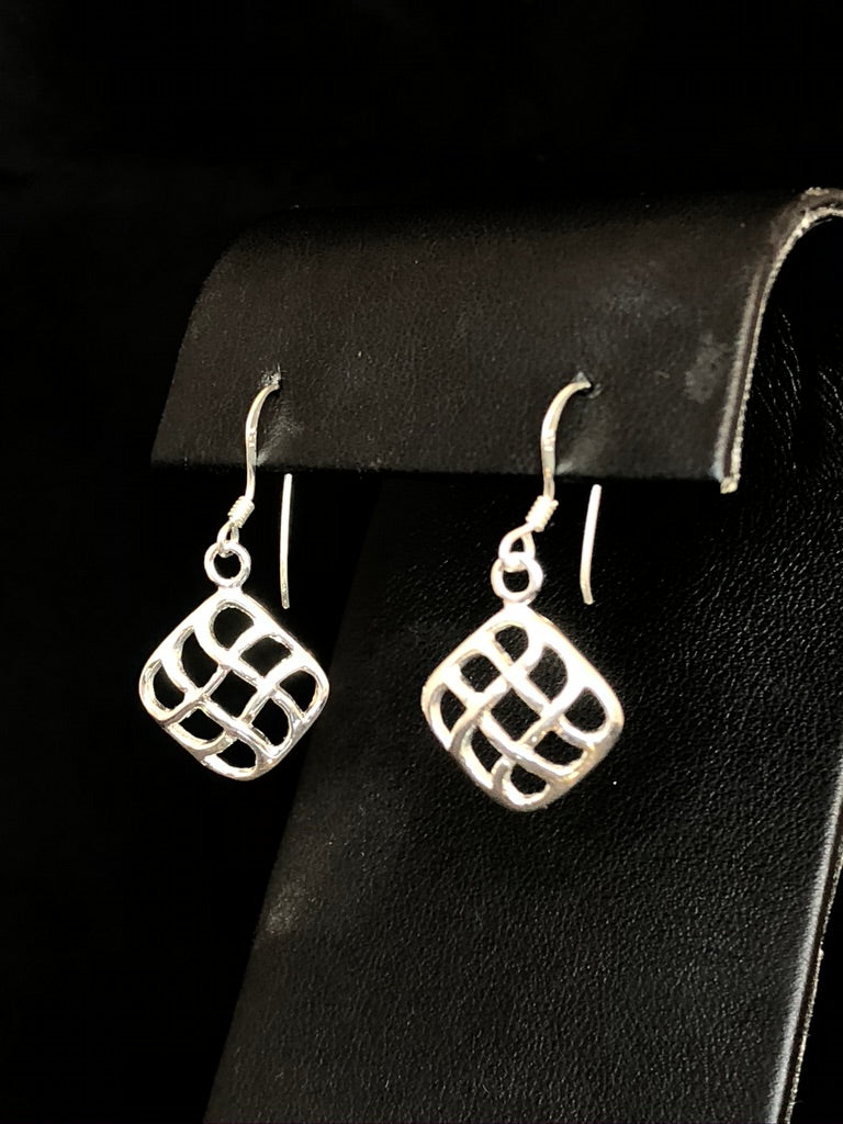 Sterling Silver Soft Weave Earrings