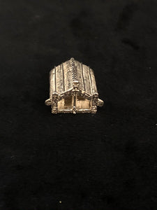Sterling Silver Hinged Whare Charm