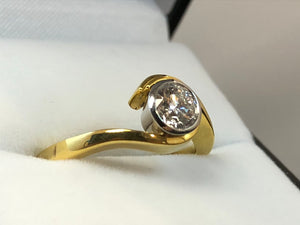 18ct Yellow Gold .50ct Diamond Ring
