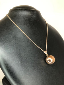 9ct Rose Gold Ball Pendant Large