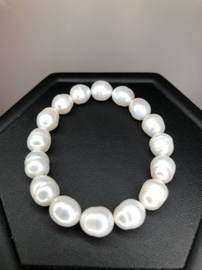Cultured White Pearl Bracelet