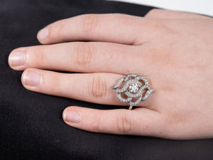 18ct White Gold 1ct of Diamond Fancy Cluster Ring