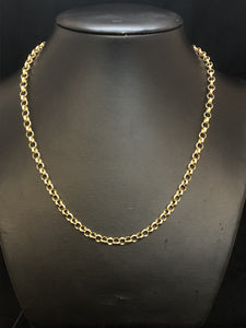 18ct Yellow Gold Plated Large Belcher Chain