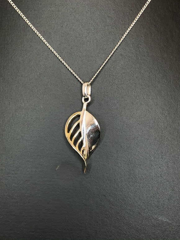 Sterling Silver Golden Fall Pendant