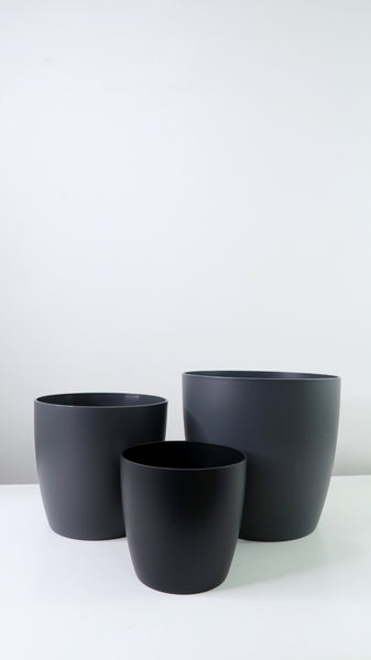 Grey Tapered Edged Pot