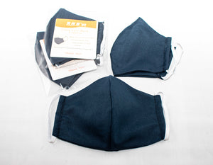 Navy Blue cloth face mask covering