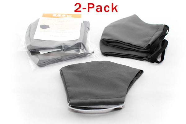 2-Pack Breathable and Reusable Adult Unisex Cloth Face Covering