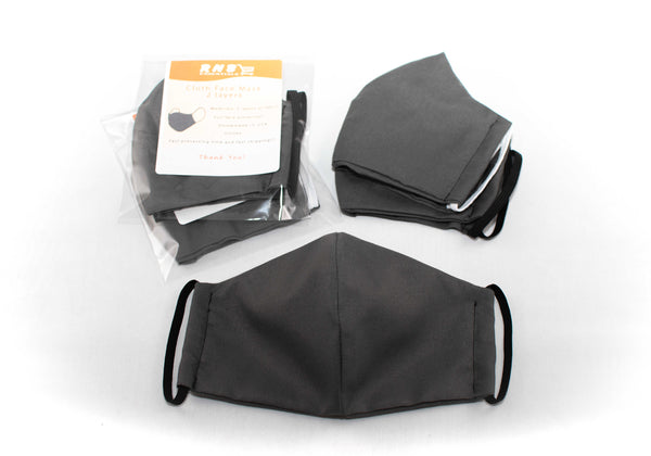 Gray cloth face mask covering
