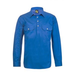 WORKCRAFT MENS CLOSED FRONT WORK SHIRTS
