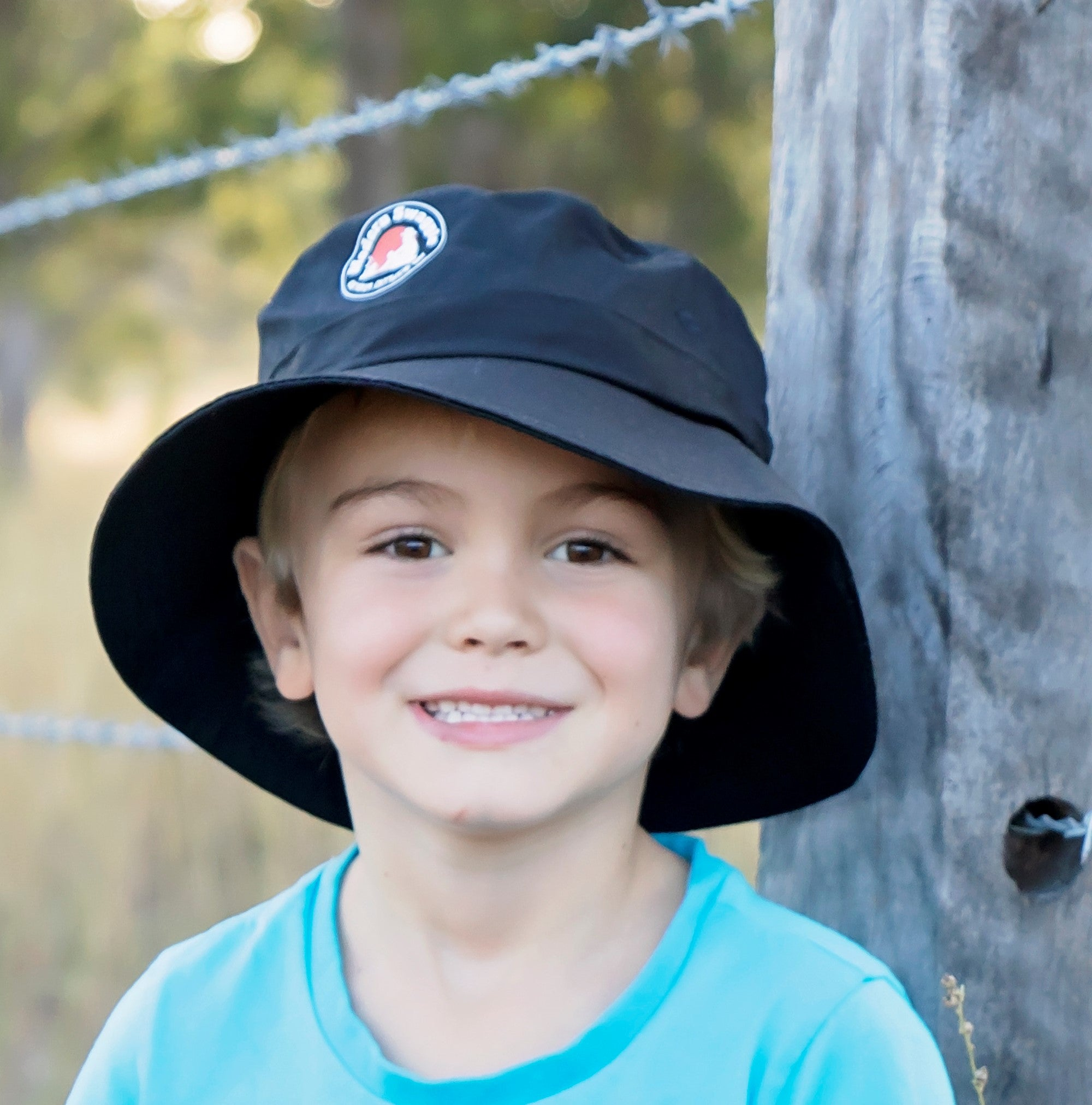 Kids Twill Bucket Hat With Toggle - Multi Colours