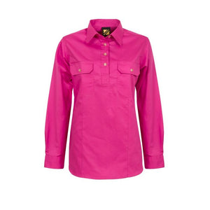 WORKCRAFT LADIES CLOSED FRONT WORK SHIRTS