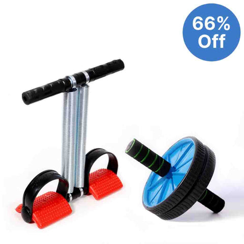 Tummy Trimmer Abs Roller Combo