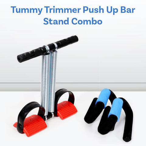 Tummy Trimmer Push Up Bar Stand Combo