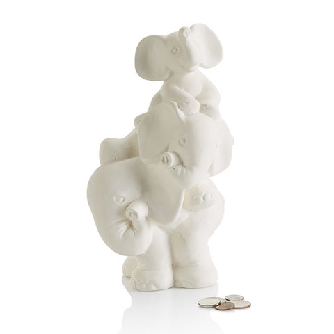 Stack of Elephants Bank with Stopper