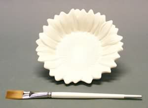 "6"" Round Sunflower Dish"