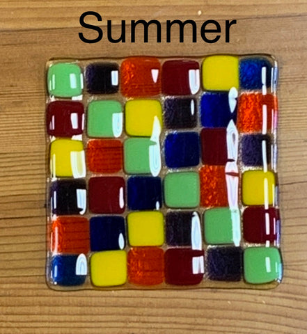 Coaster-Fused Glass-Clear Base
