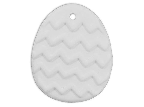 Chevron Egg Ornament