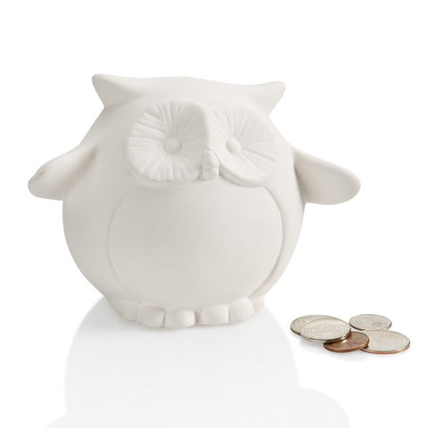 Pudgy Owl Bank with Stopper