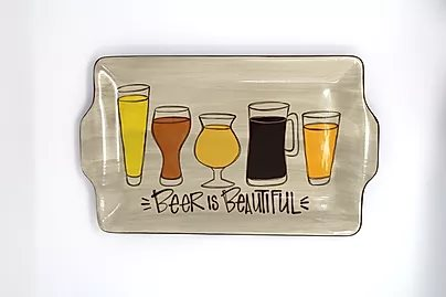 Beer Is Beautiful Tray with Step by Step Instructions