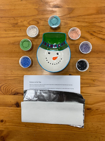 Snowman Bowl with Step by Step Instructions