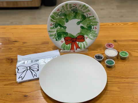 Wreath Plate with Step by Step Instructions