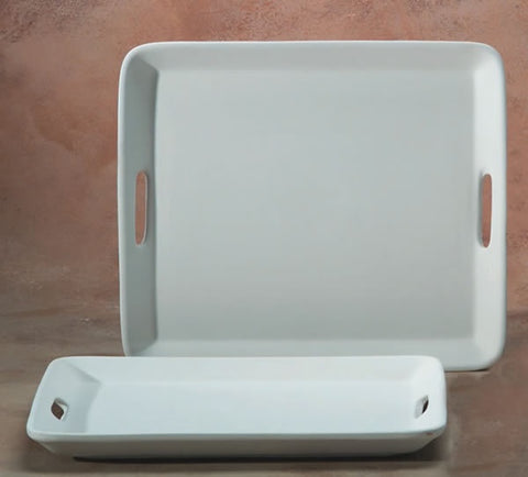 "Serving Tray w/ 2 Handles 16""X14"""