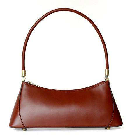 Camelia Italian Vintage Retro Shoulder Bag Made of Genuine Cow Leather - Gustobene