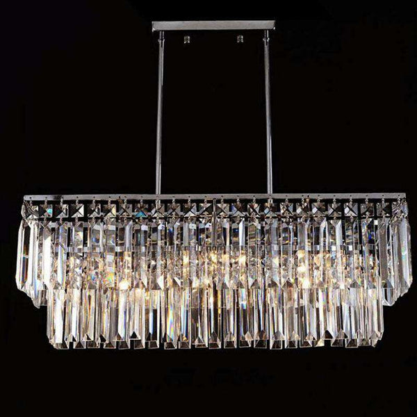 Led Italian luxury crystal Chandeliers Lights model room after the modern simple Nordic bedroom restaurant crystal lamp - Gustobene