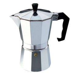 Aluminium Moka Pot Octangle Coffee Maker For Mocha Coffee Black Coffee Italian Coffee Practical Gift Easy Clean Up - Gustobene