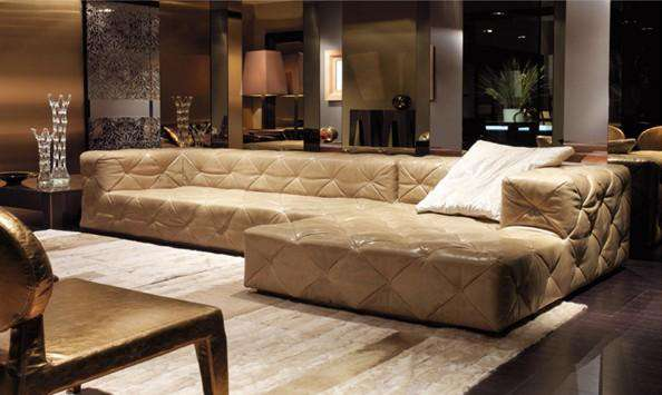 top graded italian genuine leather sofa sectional living room sofa home furniture big size with crystal buttons SF314