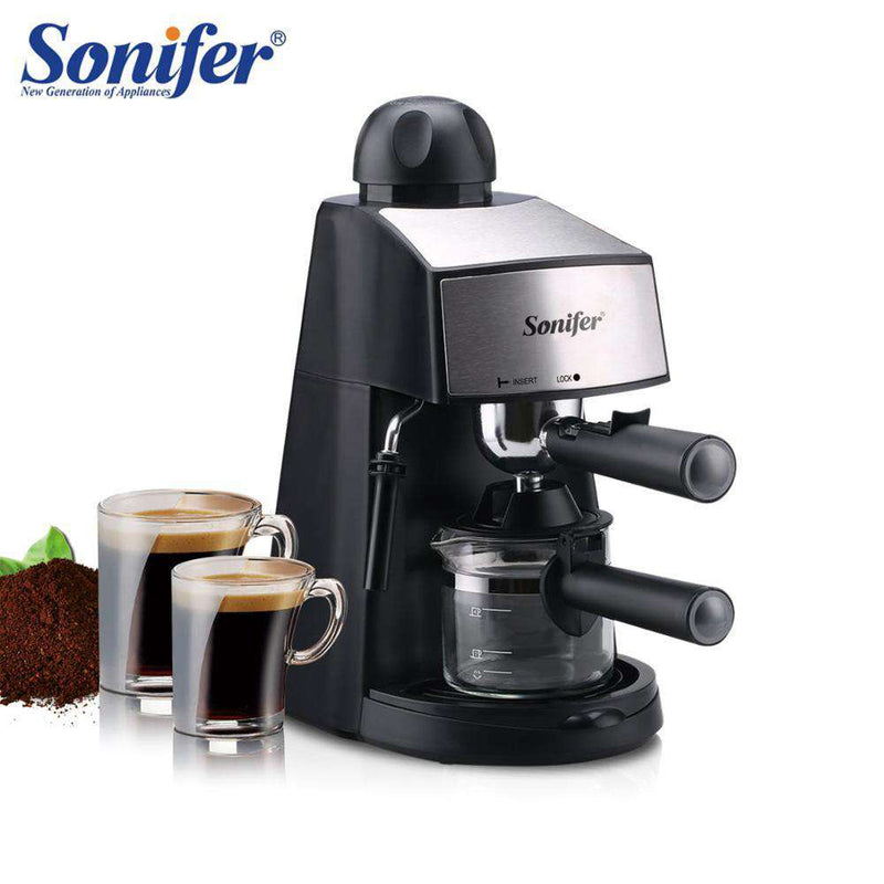 240ml Semi-Automatic Espresso Electric Coffee Machine Express Electric Foam Coffee Maker Kitchen Appliances 220V Sonifer - Gustobene