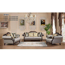 Italian modern leather sofa set designs living room furniture WA592 - Gustobene