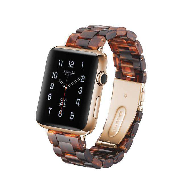 Italian Resin Band for iWatch 44MM/42MM For Apple Watch 5 40mm 38mm Bracelet Wrist Ceramic Strap handmade Series 5/4/3 Watchband