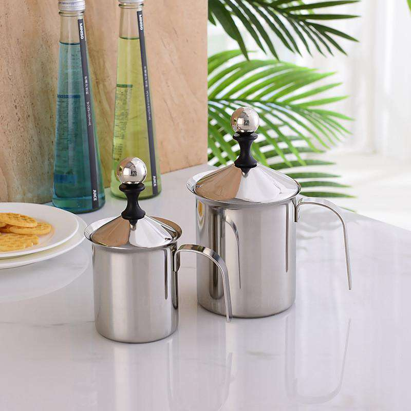 Manual Stainless Steel Frothing Pitcher - Gustobene