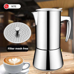 geyser coffee maker induction cooker 300ML 304 Stainless Steel espresso coffee maker Coffee pot  Moka Pot italian coffee machine - Gustobene