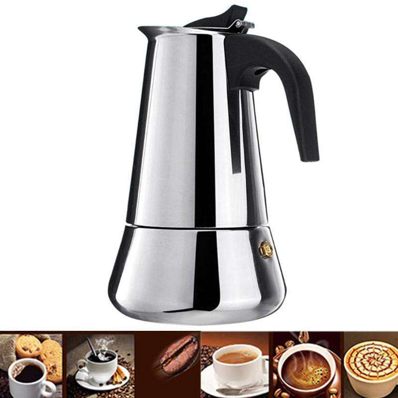 100/200/300/450ml Coffee Maker Italian Top Moka Espresso Cafeteira Expresso Percolator Stainless Steel Stovetop Coffee Maker Pot - Gustobene