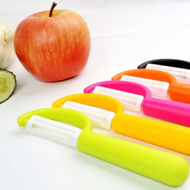 Practical Kitchen Tools Zirconia Ceramics Fruit Vegetable Peeler Kitchen Cutlery Paring Knife Potato Cutter Peeler Random Color