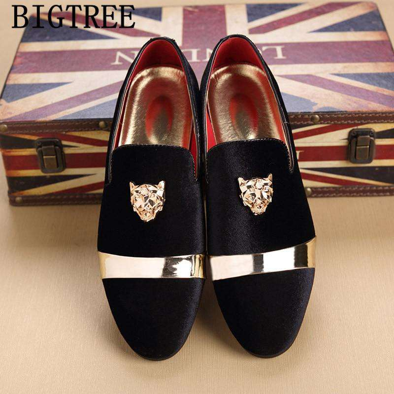 Formal Shoes Men Office Italian Luxury Brand Mens Dress Shoes Loafers Classic Coiffeur Wedding Dress Sapato Social Masculino - Gustobene