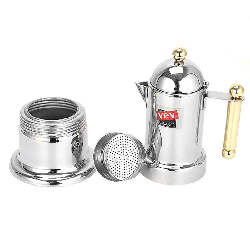 Hot Stainless Steel Coffee Pot Italian Moka Mocha Espresso Maker Latte Percolator Pot Coffee Extractor Percolator Drink Pots Too - Gustobene