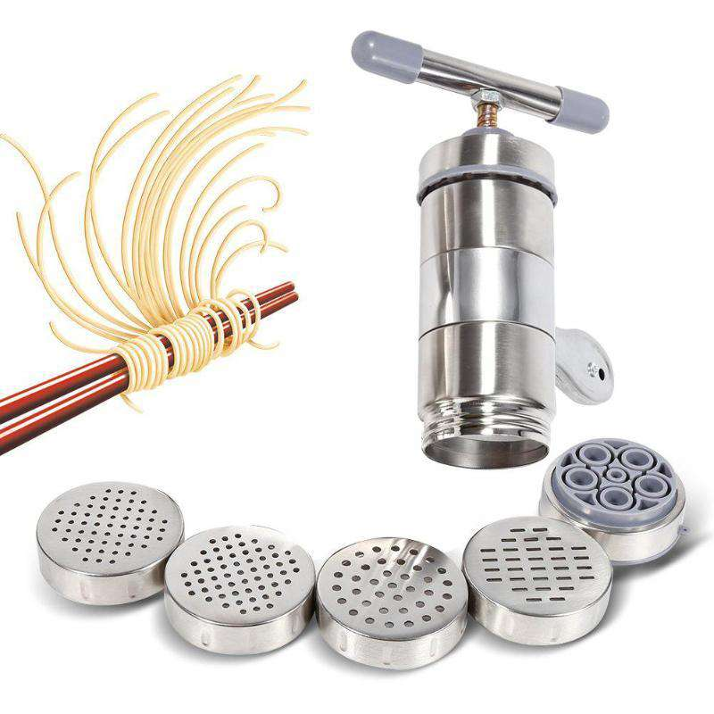 Manual Noodle Maker Press Pasta Machine Stainless Steel Crank Cutter Fruits Juicer Cookware Making Spaghetti Kitchen Tools