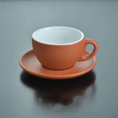 Simple Style Matting Italian Espresso Tasse Cup Saucer Sets Bardak Matt Oolong Tea Nespresso Latte Ceramic Coffee Cup Tazas Copo