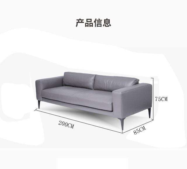 Foshan Italian minimalist modern small apartment living room fake leather sofa Nordic three seater pu  sofa - Gustobene