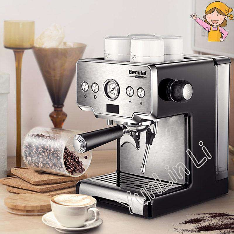 Coffee Maker 15 Bar Cafetera Steam Semi-automatic Cafeteira Milk Bubble Coffee Machine for Home CRM3605 - Gustobene