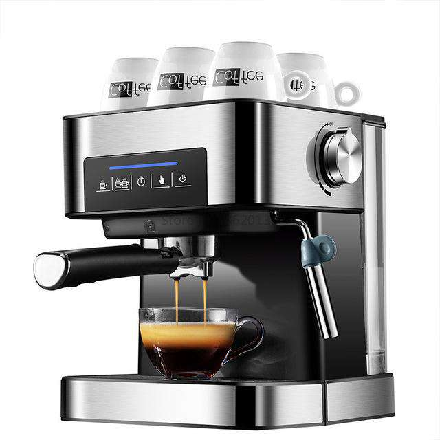 Household Espresso Machine 20bar Coffee Maker Machine Semi Automatic Cappuccino 220V Italian Steam Type Milk Frother Touch Panel - Gustobene