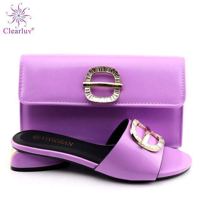 2019 New yellow Matching Shoes and Bag Set In Heels African Shoes and Matching Bags Italian Pumps Matching Shoe and Bag Set - Gustobene
